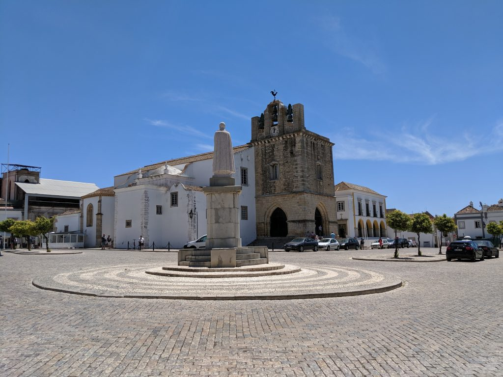 Faro, Portugal. Cathedral and Courtyard.