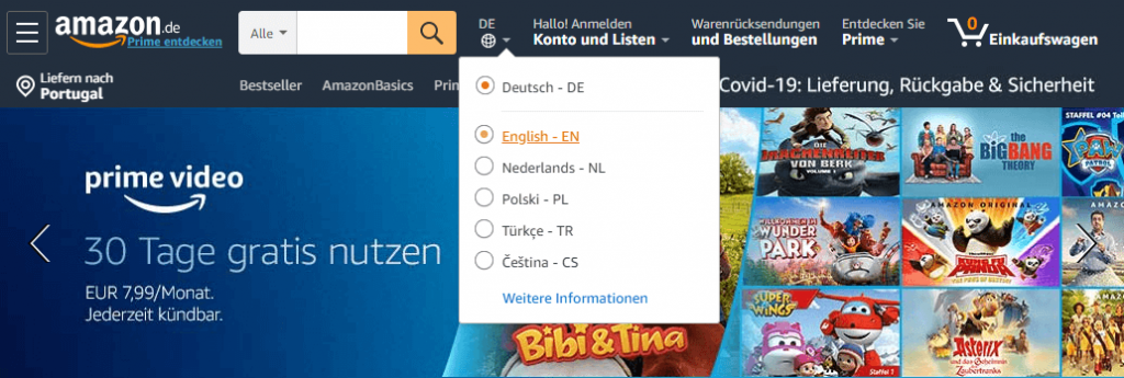 Amazon Germany English