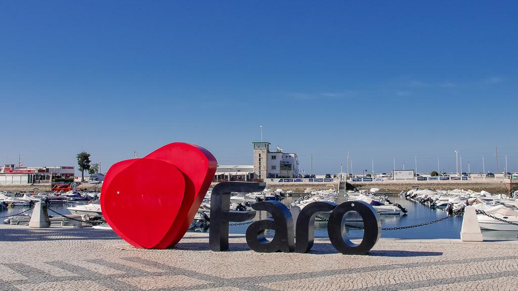 Faro Portugal Sign