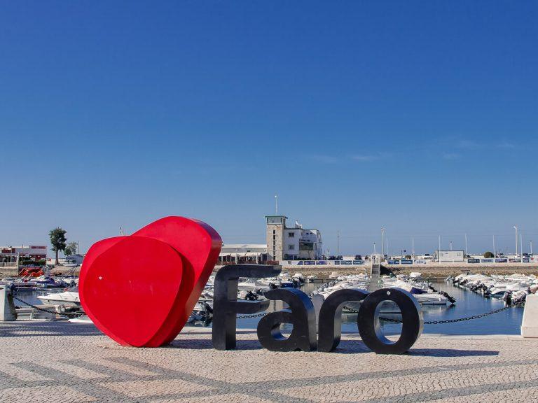 Faro Portugal Marina Sign