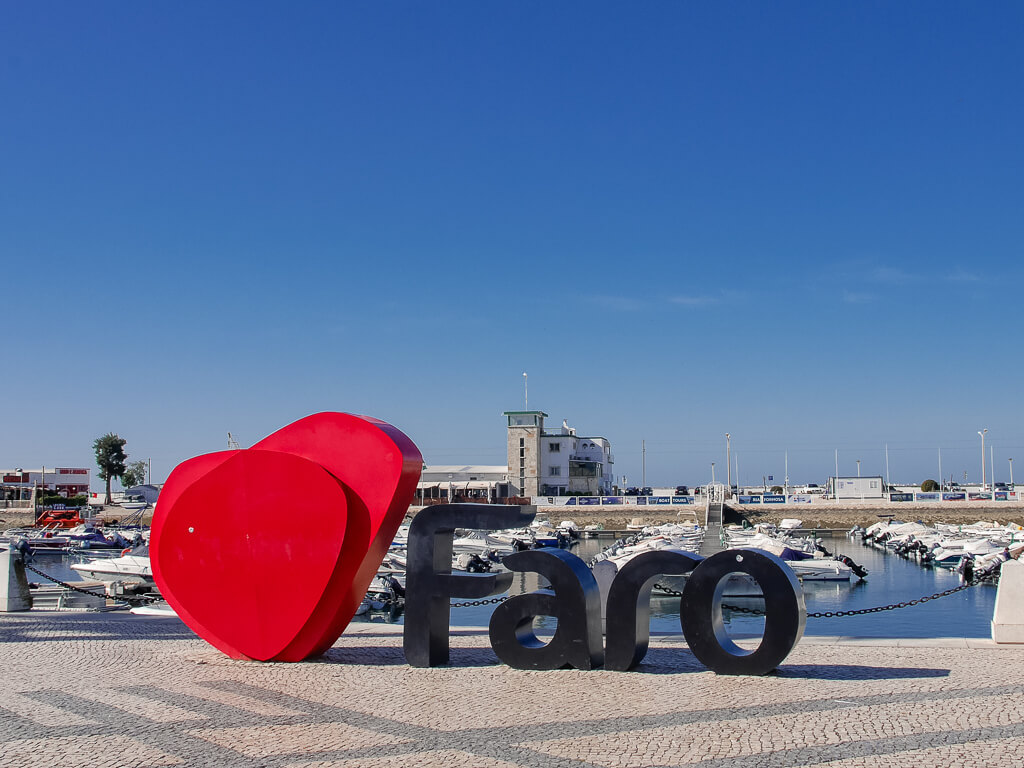 Faro Portugal Marina Sign