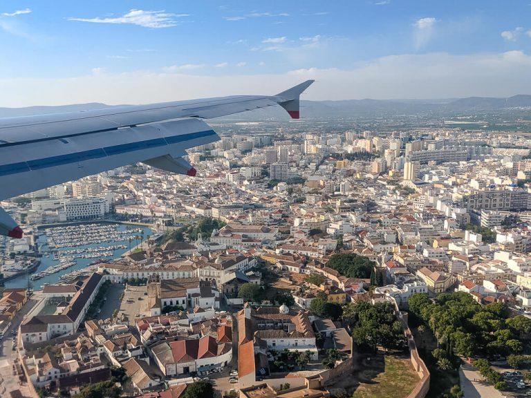 Landing in Faro, Algarve's Airport