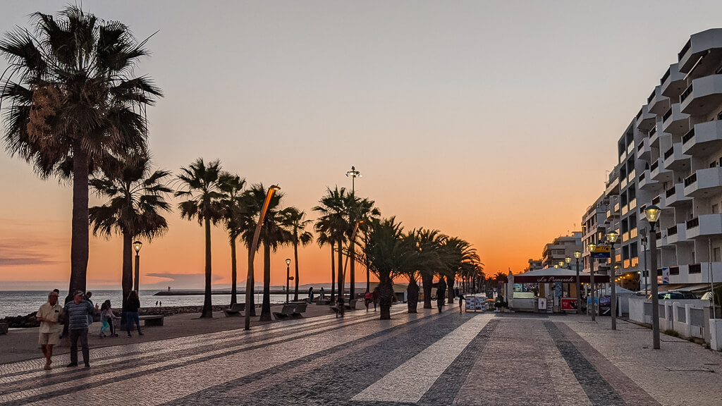 Quarteira Promenade Sunset
