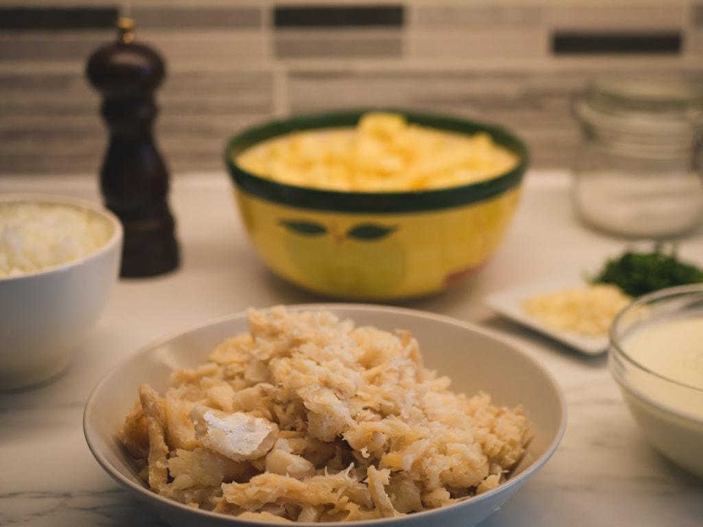 Bacalhau com Natas Ingredients