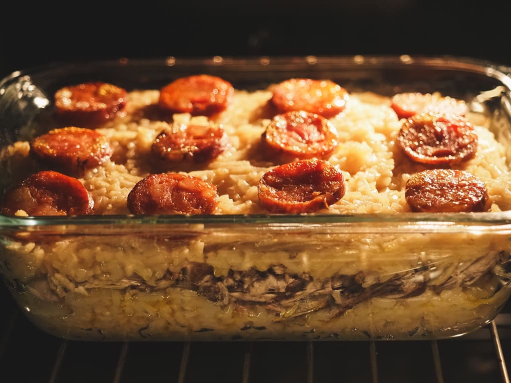 Duck Rice in the Oven