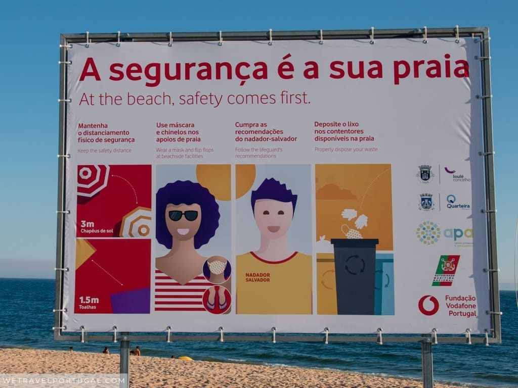 Safe Beach Sign Portugal