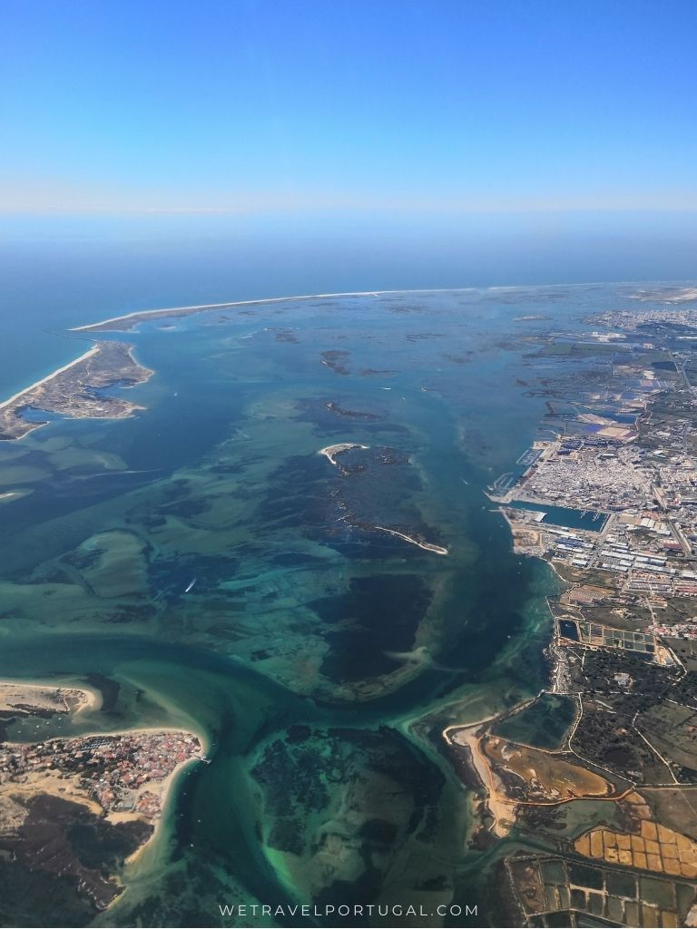 The Ria Formosa form the air